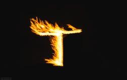 Письма огня стоковое фото