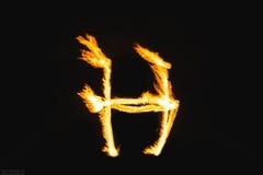 Письма огня стоковая фотография rf