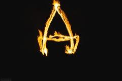 Письма огня стоковое изображение