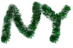 2 письма от зеленой сусали Стоковые Изображения RF