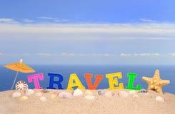 Письма перемещения на песке пляжа Стоковые Фото