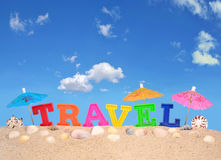 Письма перемещения на песке пляжа Стоковые Фотографии RF