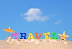 Письма перемещения на песке пляжа Стоковая Фотография RF