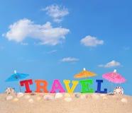 Письма перемещения на песке пляжа Стоковое Фото