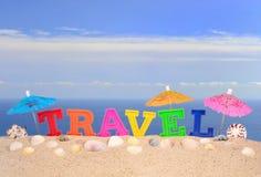 Письма перемещения на песке пляжа Стоковое Изображение RF