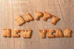Письма печенья в поздравительной открытке рождества стоковое фото