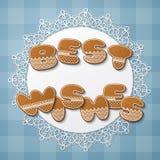 Письма печенья пряника иллюстрация вектора