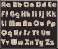 Письма плана шрифта оформления алфавита от a к z иллюстрация штока