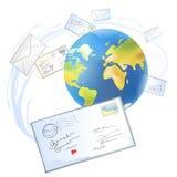 Письма по всему миру Стоковое Изображение