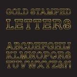 Письма проштемпелеванные золотом Ультрамодный и стильный золотой шрифт L Стоковые Фотографии RF