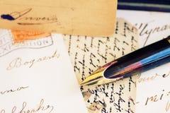 Письма ручки и антиквариата Quill Стоковое фото RF