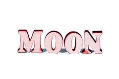 Письма луны деревянные Стоковое Изображение
