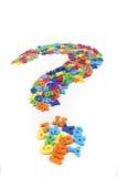 Письма цвета пластичные как знак вопроса Стоковая Фотография RF