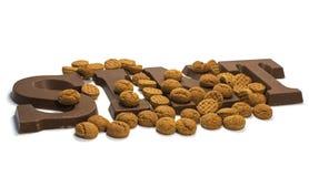 Письма шоколада стоковые фотографии rf