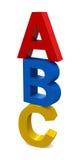 Письма ABC Стоковая Фотография