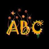 письма b c прописные цветастые Стоковые Изображения