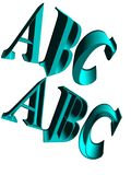 письма 3d изолированные на белой предпосылке иллюстрация штока