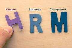 Письма HRM (или управление человеческих ресурсов) стоковые фотографии rf