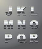 письма metal глянцеватое Стоковое фото RF