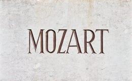 Письма MOZART Стоковые Фото