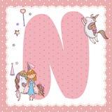 Письмо алфавита n для детей Стоковая Фотография RF