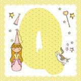 Письмо алфавита q для детей Стоковая Фотография RF