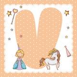Письмо алфавита v для детей Стоковое Фото