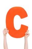 Письмо алфавита в руках детей Стоковые Фото
