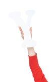 Письмо алфавита в руке ребенка Стоковое Изображение