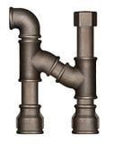 Письмо алфавита трубы Стоковые Фотографии RF