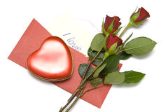Письмо влюбленности стоковые фотографии rf