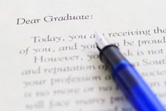 письмо выпускника новое Стоковое фото RF