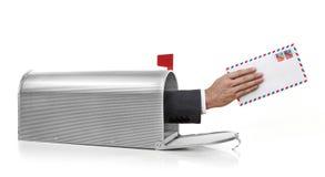 Письмо в почтовом ящике Стоковое Изображение