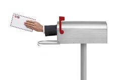 Письмо в почтовом ящике Стоковая Фотография RF