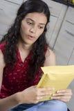 письмо девушки Стоковая Фотография