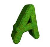 письмо зеленого цвета травы 3d иллюстрация вектора