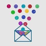 письмо значка app иллюстрация вектора