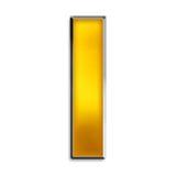 письмо золота i изолированное глянцеватое Стоковое фото RF
