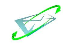 письмо иконы Стоковое Изображение