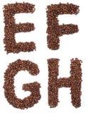 письмо кофе Стоковые Фотографии RF