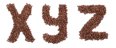 письмо кофе Стоковые Изображения