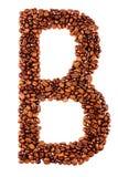 письмо кофе b стоковое изображение