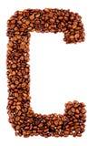 письмо кофе c стоковые фото