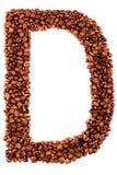письмо кофе d стоковые фото