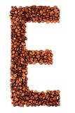 письмо кофе e Стоковые Изображения