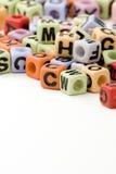 письмо кубиков Стоковая Фотография RF