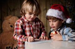 Письмо к Санта Стоковые Изображения RF
