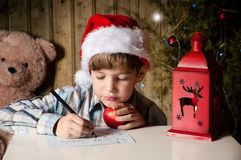 Письмо к Санта Стоковые Фотографии RF