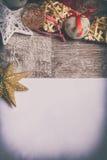 Письмо к Санте с рождеством орнаментирует arround Стоковое Фото