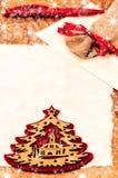 Письмо к украшению Санта Клауса, рождества и Нового Года Стоковые Изображения